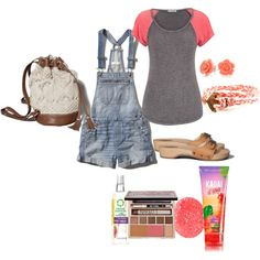 shortalls by adreyn15 on Polyvore featuring polyvore fashion style maurices Abercrombie & Fitch Domo Beads Bling Jewelry Urban Decay Herbal Essences