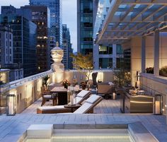 Outdoor terrace in the city