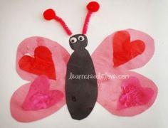 Preschool Valentine's Crafts - CalledToBeAMom.com