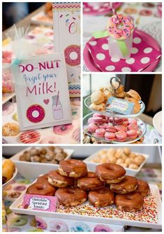 Details from a Donut Themed Birthday Party