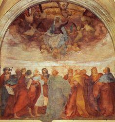 """rosso-fiorentino. Rosso Fiorentino, """"L'Assunzione di Maria"""", Santissima Annunziata, Chiostrino dei Voti, Florence."""