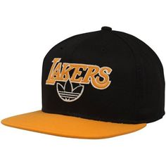 adidas Los Angeles Lakers Fashion Snapback Hat - Black/Gold by adidas. $24.95. Felt applique detailing. Structured fit. Quality embroidery. Flat bill. Adjustable plastic snap strap. adidas Los Angeles Lakers Fashion Snapback Hat - Black/GoldAdjustable plastic snap strap100% CottonOfficially licensed NBA productImportedFlat billStructured fitQuality embroideryFelt applique detailingOne size fits most100% CottonStructured fitQuality embroideryFelt applique detailingAdj...