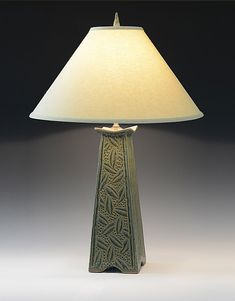 Mission Lamp by Jim and Shirl Parmentier: Ceramic Table Lamp available at www.artfulhome.com