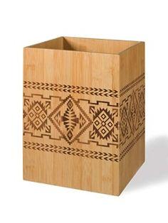 Bamboo Basket Waste Basket
