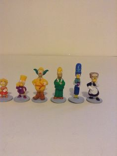 2002 Parker Brothers Simpsons Clue Character Figures Lot Of 6 Replacement Pieces #ParkerBrothers