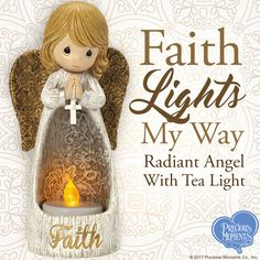 Delight someone soon with one of our radiant angels or add angelic ambiance with a flame-free glow to your home or office décor.  #PreciousMoments #LifesPreciousMoments #FaithLightsMyWay #Faith #Angel