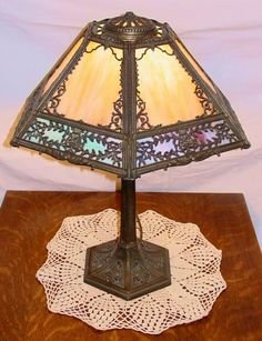 This wonderful 1930s table lamp is truly fabulous, featuring ...