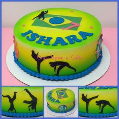 Birthday Cake for a huge fan of capoeira and Brasil