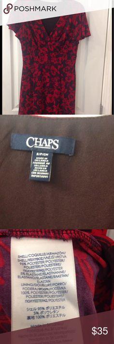 Beautiful Chaps Dress Flattering and feminine fit. Beautiful colors. Chaps Dresses Midi