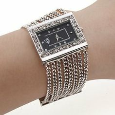 Tanboo Fashion Alloy Band Quartz Bracelet Watch For Women by Tanboo Watchs. $16.99. Sports Fan Watch. Gender:Women'sMovement:QuartzDisplay:AnalogStyle:Bracelet WatchesType:Fashionable WatchesBand Material:AlloyBand Color:SilverCase Diameter Approx (cm):3Case Thickness Approx (cm):0.2Band Length Approx (cm):18.5Band Width Approx (cm):3.3