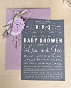 BBQ Baby Shower Invitation PRINTABLE by Memento Designs