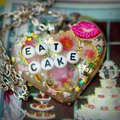 Eat Cake  Resin Sweets Necklace by stoopidgerl on Etsy, $26.00