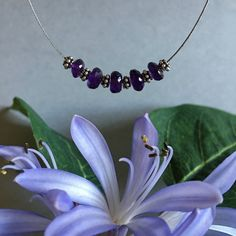 Amethyst Crystal Necklace Choker by PrettyStoneCreations on Etsy