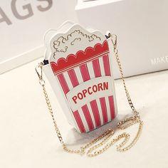Parágrafo verão coreano bolsas de saco de pipoca cadeia mensageiro bolsa de ombro personalizado engraçado em Bolsas Atravessadas de Bagagem & Bags no AliExpress.com | Alibaba Group