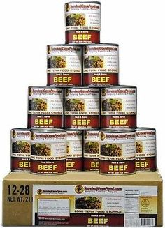 Shredded Beef You will receive: 12 - 28 ounce cans / 1 full case, 30 servings 3 ounce serving size Our canned beef is made from the same select cuts of meat tha