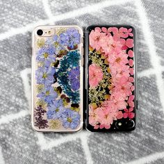Real flowers Iphone X cases Pressed flower floral skin cover