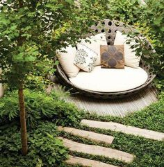 love this as a little sanctuary in the woods!