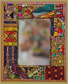 glass art - Bing Images- Mosaic and dichroic glass mirror
