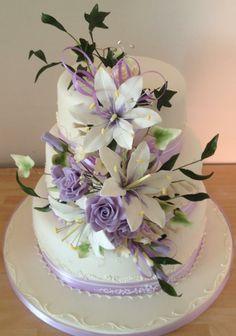 wedding cakes, sugar flowers, beauti flower
