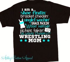 Wrestling Mom  Wrestler's Mom  Wrestling  by AshleysCustomApparel