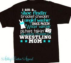 Wrestling Mom  Wrestler's Mom  Wrestling  by AshleysCustomApparel