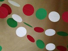 Red White and Green Paper Garland Christmas Party Decor Baby Shower Photo Prop Christmas Tree and Holiday Decor Classroom Decor Etc Ward Christmas Party, Office Christmas, Cheap Christmas, Xmas Party, Christmas Holidays, Whoville Christmas, Christmas Program, Thanksgiving Holiday, Christmas Baby