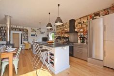 The beautiful kitchen at Lymelight, Lyme Regis