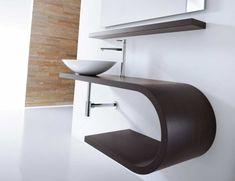 Mastella Jey DX Modular Designer Bathroom Vanity in Wenge