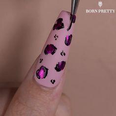 Nail Art Designs Videos, Nail Design Video, Nail Art Videos, Diy Acrylic Nails, Cute Acrylic Nail Designs, Diy Nails, Pretty Nail Art, Cute Nail Art, Nail Art Diy
