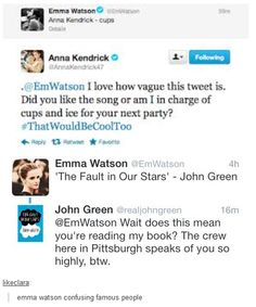 emma watson tweeting is my spirit animal