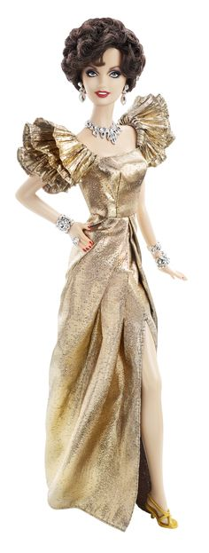 Omg I want this for Gigi! A Joan Collins Barbie doll actually exists!