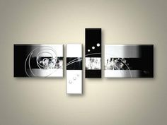 Abstract Art, 4 Piece Canvas Art, Black and White Canvas Wall Art, Abstract Oil Painting, Modern Wall Art - Art Painting Canvas Hand Painting Art, Online Painting, Large Painting, Oil Painting Abstract, Abstract Wall Art, Painting Canvas, Watercolor Painting, Metal Tree Wall Art, Panel Wall Art