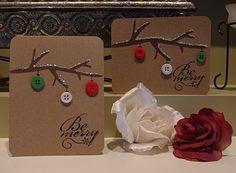 Cute button Christmas cards