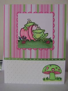 Spring Frog by torinogt - Cards and Paper Crafts at Splitcoaststampers