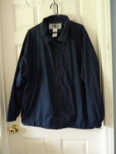 Mens 2X XXLG 42/44 ATHLETIC WORKS WIND/RAIN JACKET FALL ZIPPERED Pockets eu #ATHLETICWORKS #WindbreakerRAIN