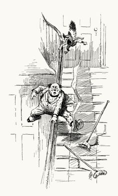 Part 7: The fatal mistake… A tale of a cat    From Stuff and Nonsense, written and illustrated by Arthur Burdett Frost, New York, 1884.