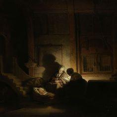 The Holy Family at Night, Rembrandt Harmensz. van Rijn, c. 1642 - c. 1648 - Rijksmuseum