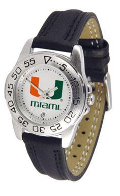 Miami Hurricanes Gameday Sport Ladies' Watch