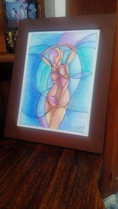 """Cuadro original -> """"Libertad"""" (María Carolina Gioscio) Hecho con lápices acuarelables.   #Draw #Watercolor #Lápices #Mujer #Libertad #Vida #Cuadro"""