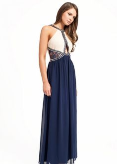 This one is best maxi dress foe petite size women white and blue