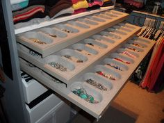 Necklace ring etc jewelry storage in ikea pax drawer pullout with