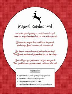 The O.C.D. Life: Magical Reindeer Food + 2 Free Printables!