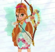 Ash with bow and arrow Best Profile, Profile Photo, Cosplay Characters, Girls Characters, Ever After High, Ashlynn Ella, Regal Academy, Barbies Pics, Ever After Dolls