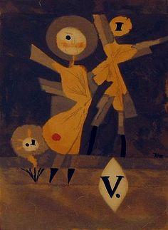 """PAUL KLEE 'Blumen Family' 1922 9 1/4 x 6 5/16"""""""