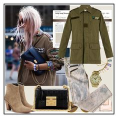"""military jacket  ♥♥♥"" by marthalux ❤ liked on Polyvore featuring Patek Philippe, Loren Stewart, House of Harlow 1960, Yves Saint Laurent, Work Custom and Gucci"