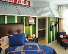 Lots of ideas for baseball rooms