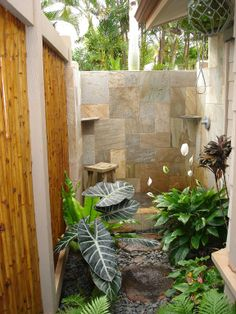 Master bathroom outdoor shower