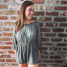The Medallion Romper is the perfect #Summer to #Fall piece! You can get this item for $44 in stores or online! #WillyJays #KingStreet #Charleston #ootd