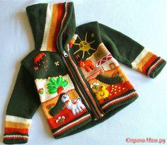 Р Р sСЃСЃРёР№СЃРєРёР№ РЎРµССРІРёСЃ РћРЅР Diy Crafts Knitting, Easy Knitting Patterns, Crochet Crafts, Crochet For Boys, Knitting For Kids, Baby Knitting, Free Baby Blanket Patterns, Old Sweater, Cardigan Sweaters