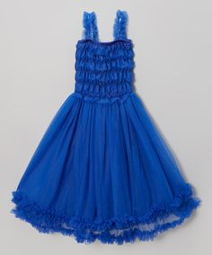 Look at this Blue Ruffle Tea Dress - Infant, Toddler